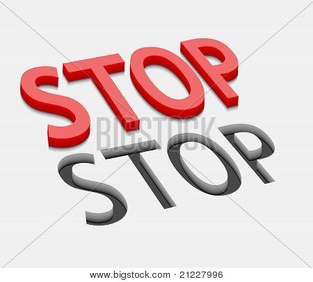 3D Vector Stop Text Design