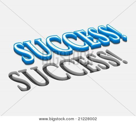 3D Vector Success Text Design