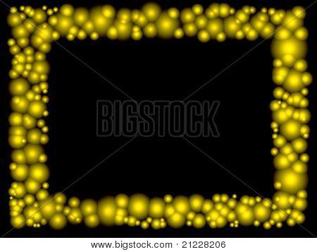 Rahmen des goldenen Blasen
