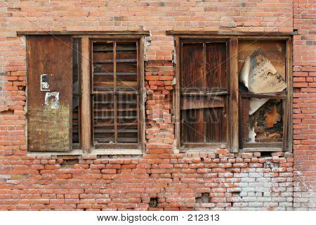 Brick Wall And Windows