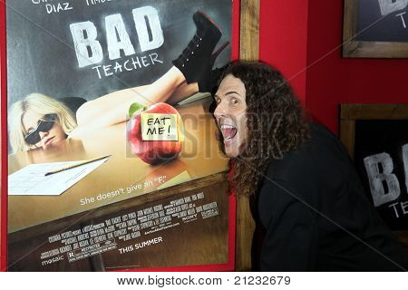 "NEW YORK - JUNE 20: Weird Al Yankovich attends the premiere of ""Bad Teacher"" at the Ziegfeld Theatre on June 20, 2011 in New York City."