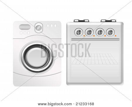 Stove And Washing Machine