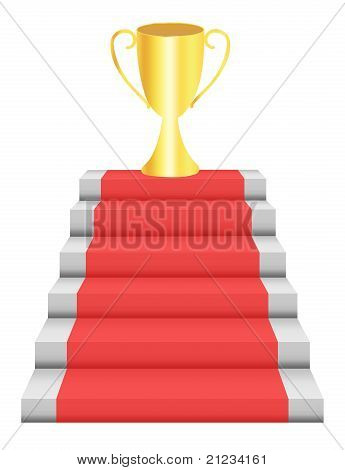 Steps And Trophy
