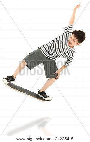Video Game Skateboard Player Child