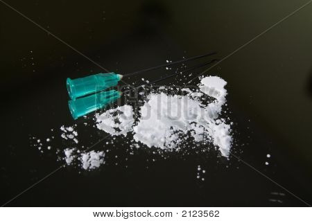 Heroin Drug And Needle
