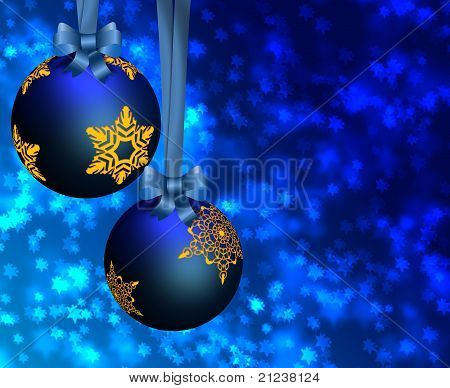 Blue Christmas Ornaments.