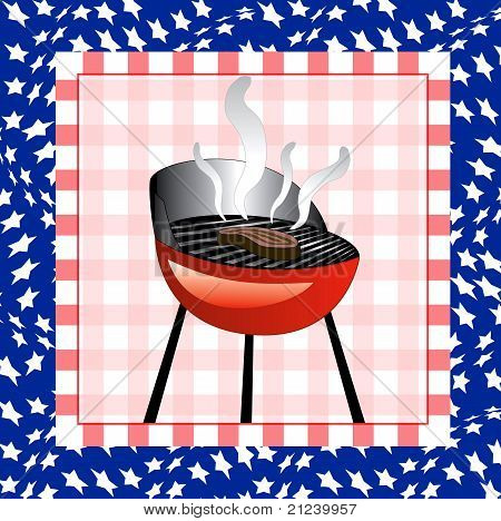 July 4Th Bbq Background
