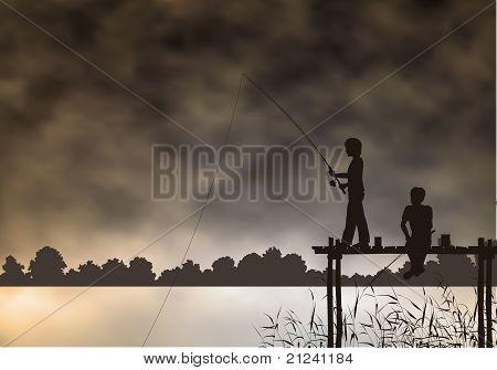Meninos de pesca