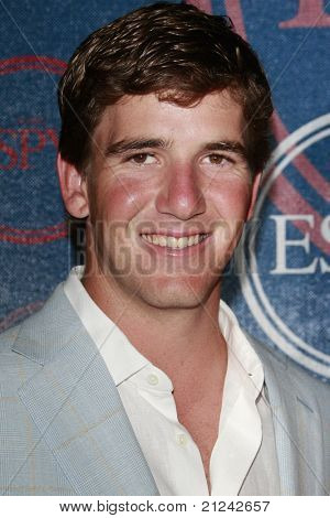 LOS ANGELES - JULY  15: Eli Manning at the 2008 ESPYs Giant Event in downtown Los Angeles, California on July 15, 2008.