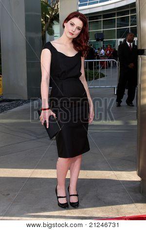LOS ANGELES - JUN 21:  Alexandra Breckenridge arriving at the True Blood Season 4 Premiere at ArcLight Theater on June 21, 2011 in Los Angeles, CA