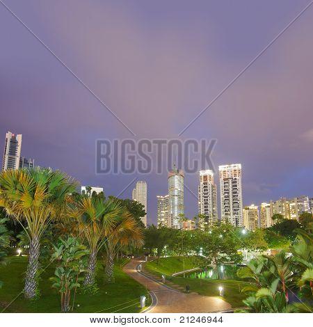 Colorful City Night Scene