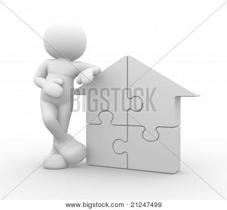 House Puzzle Pieces