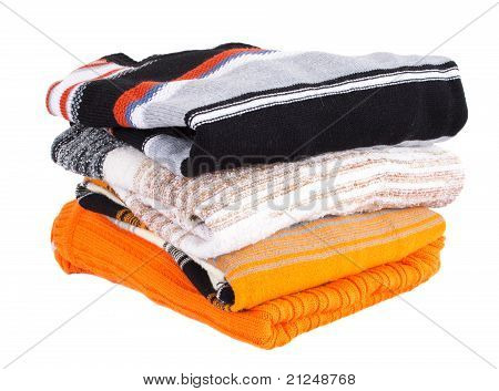 Pile Of Multi-colored Sweaters