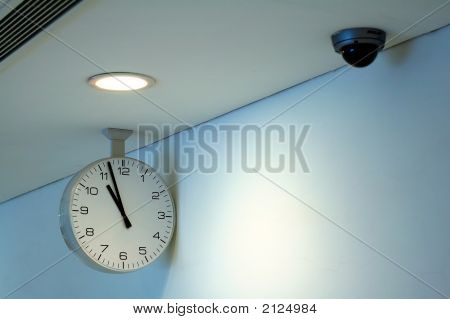 Clock And Security Camera