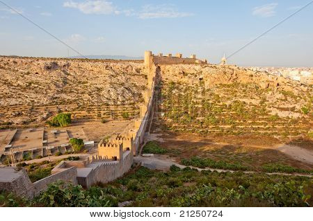 Alcazaba, Ancient Muslim Fortress In Almeria