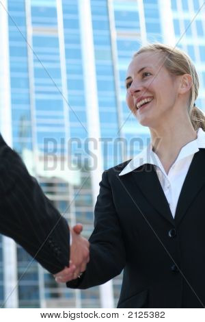 Businesswoman Shaking Hands