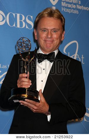 LAS VEGAS - JUNE 19:  Pat Sajak in the Press Room of the  38th Daytime Emmy Awards at Hilton Hotel & Casino on June 19, 2010 in Las Vegas, NV.