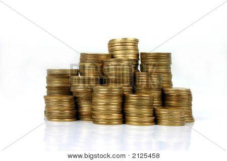 gestapelten Münzen (Serie)
