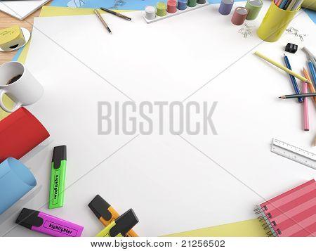 White Canvas Copy Space Closeup