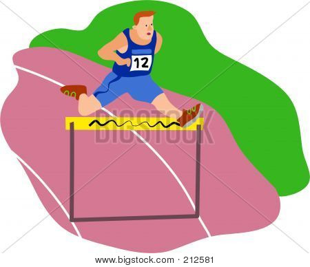 Hurdle Athlete