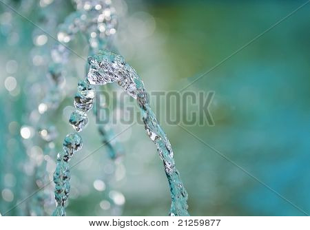 Water Trickles From A Fountain