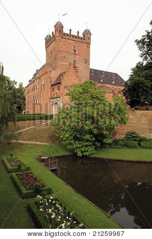 Medieval Castle And Rose Gardens