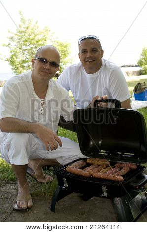 Grilling In A Picnic