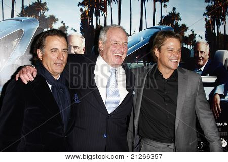 LOS ANGELES - 22 de MAR: Andy Garcia, Jerry Weintraub, Matt Damon chegar a Los Angeles HBO Prem