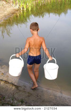 Boy With Buckets