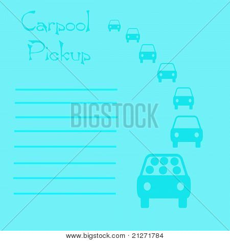 carpool pickup list