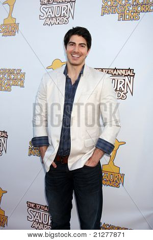 LOS ANGELES - JUN 23:  Brandon Routh arriving at the 2011 Saturn Awards  at Castaways on June 23, 2011 in Burbank, CA