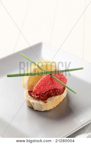 Red Caviar Canape