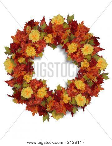 Herbst Blumen Kranz