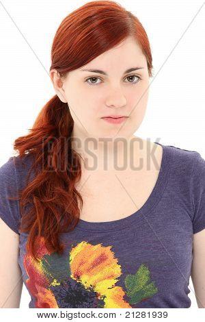 Attractive Young Woman No Make-up
