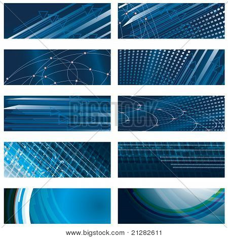 A Set Of Abstract Blue Background