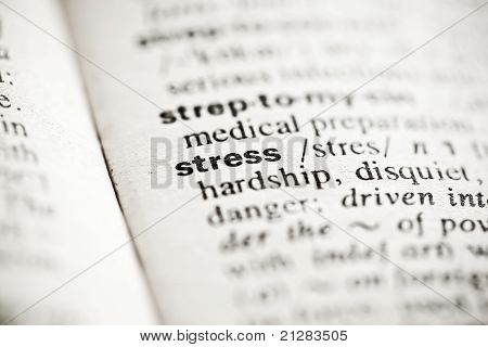 'stress' - Dictionary Definition Vignette