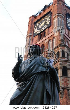 The Statue Of Famous Astronomer Nicholas Copernicus