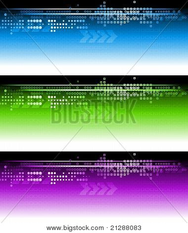 Abstract Vibrant Banners