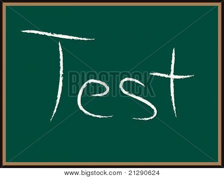 TEST text on Chalkboard
