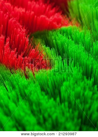 Red and green background