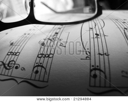Glasses with Music Notes
