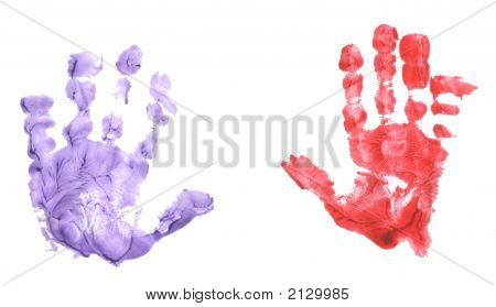 Isolated Childs Handprint