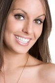 pic of female model  - Bright happy attractive young female model smiling - JPG