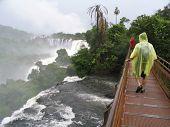 Tourist In Iguazu Falls poster