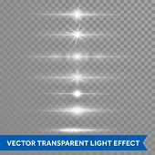 Light Effect Or Star Shine Lens Flare Vector Isolated Icons Transparent Background poster