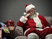 Santa Claus Taking A Nap poster