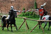 Medieval Knights Jousting poster