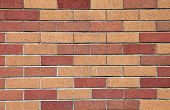 stock photo of klamath  - A newly built brick wall outside the Klamath Falls library - JPG