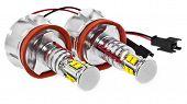 Light Led Bulbs For Car Lamps. Car Led For Halo Rings And Angel Eyes Lighting Effect. poster