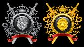foto of lions-head  - ?oat of arms. Retro symbol. Vector illustration. - JPG